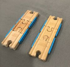 """Thomas & Friends Wooden Train 2x 6"""" Inch switch adjustable track"""