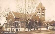 Grand Ridge Illinois ME Church Real Photo Antique Postcard J64309