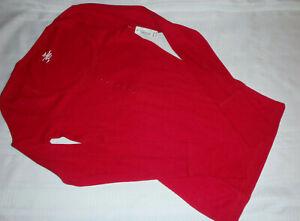 Flirtitude Juniors Size Small Liberty Red Waffle Knit Casual Lounge Shirt NWT