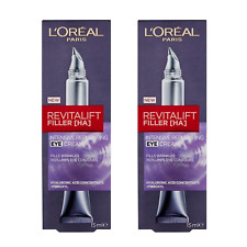 L'Oréal Revitalift Filler Eye [HA] Intensive Replumping Eye Cream x2 15m RRP $90