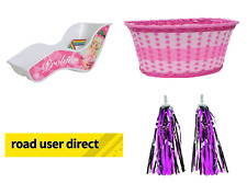 FAIRY Children Bike Accessory Pack - Dolly Seat / Pink Basket & Streamers