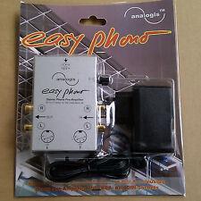 """Analogis """"Easy Phono"""" Stereo Vorverstärker Entzerrer für Plattenspieler /NEU OVP"""