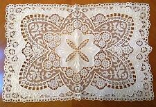 Antique Lace Doily Embroidered Whitework Dresser Table Tray Mat Chemical Doilie