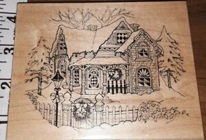 Psx,big Victorian winter home,k347,,B002,rubber, wood