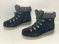 UGG Birch Lace-up Waterproof Black Suede Boots Booties, Size 5.5 BNIB