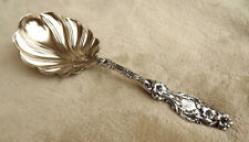 """Lily by Whiting 9"""" Sterling serving spoon monogram HM Pat. 1902"""