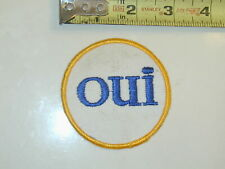 Word Patch Oui French Fun Yes Men's Adult Magazine Rare