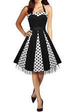 50's, Rockabilly Spotted Regular Size Dresses for Women