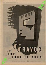 Ultravox Rage In Eden Advert NME Cutting 1981