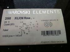 Swarovski Crystals Clear Foiled Flatback Rhinestones SS5 1.8mm Glue On Nail Art