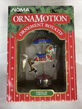 NOMA Ornamotion Rotating Carousel Horse Christmas Tree Ornament 1989 With Box