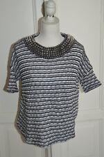 Maglia a righe con borchie ZARA spikes knit striped top S