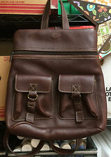 Aston Brown Leather Backpack excellent unused condition