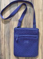 MICHAEL KORS MK Logo Purple Mono Neoprene Crossbody Messenger Bag Purse HTF