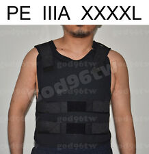 New PE Bullet Proof Vest/Jacket Body Armor NIJ Level IIIA 3A 38 Layers 4XL