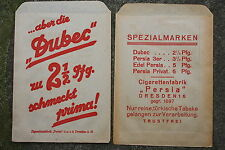 19606b 2 PERSIA Zigaretten Papiertüten DRESDEN 1935 2 old paper bags cigarettes