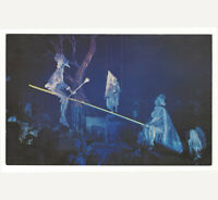 Disneyland Vintage Unused Postcard Haunted Mansion Swinging Ghosts early 1970s