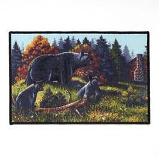 BLACK BEAR Family LODGE 20 by 30 inch Nylon RUG by AVANTI Cabin Rustic NEW