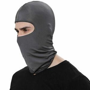 Ultra thin Balaclava Ski Motor Bike Face Mask Outdoor Sports Lycra Dark Grey