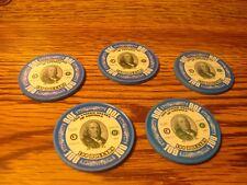 #5 Five Benjamin Franklin $100 Poker Chips Golf Ball Marker - Card Guard