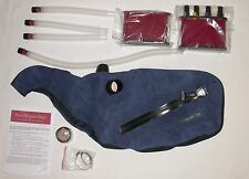 Ross Blue Leather Bagpipes Zipper Pipe Bag with Canister System various sizes