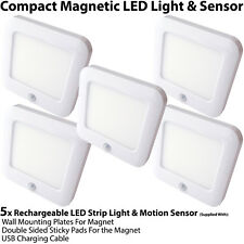 5x Rechargeable Magnetic LED Light & Motion Sensor – Cupboard/Cabinet Mini Spot