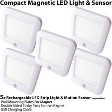 5x Rechargeable Magnétique Lumière Del & Capteur Mouvement – Placard / Armoire