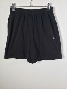 Champion Mens black casual shorts size S elastic waist cotton with pockets