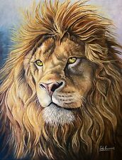 Original oil Painting on Canvas, Fine Art, Lion, Animal Portrait