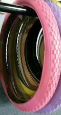 1 NEW DURO, BICYCLE TIRES,26X2.125,KNOBBY PATTERN  PINK,