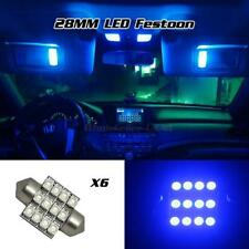 6pcs 28mm DE3175 12-3528 Tri-Cell SMD Bright Blue LED For Honda Dome Light
