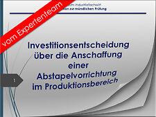 Industriefachwirt Präsentation zur mdl. Prüfung IFW Investition Produktion #34