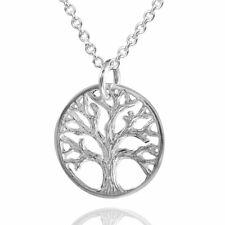 MATERIA Damen Anhänger Lebensbaum 925 Sterling Silber 14x18mm rhodiniert