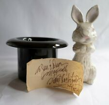 Large ceramic Magic hat and Rabbit with Harry Blackstone Jr autograph