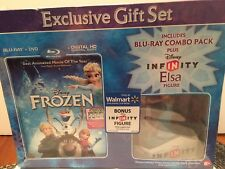Anna Infinity Figure + Frozen Blu-Ray DVD Digital HD Copy Exclusive Gift Set