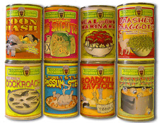 Comic Looney Soup stick on (8 Labels) kitchen gag prank
