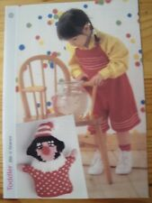Knitting Pattern for Child's Bib and Braces and Socks and a Toy.