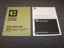 Caterpillar D7G Crawler Dozer Tractor Shop Owner Operator Maintenance Manual Set