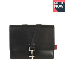 RRP €920 VALENTINO GARAVANI Leather Clutch Bag Rockstud Clasp Flap Made in Italy