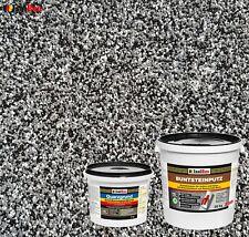 Buntsteinputz SET Mosaikputz BP 30 (schwarz, grau, weiss) 20kg + Quarzgrund 4 kg