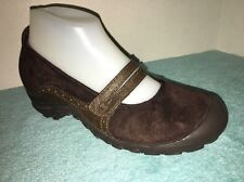 Merrell Brown Suede Leather Mary Janes Size 7 M