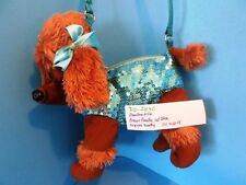 Poochie and Co Brown Poodle with Body of Blue Sequins Bag (310-2840)