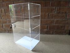 "Acrylic Counter Top Display Case Acrylic Locking Show Case/Shelves 12""x6""x16"""