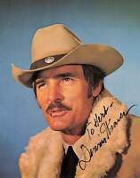 DENNIS WEAVER Western Movie Actor Signed Autographed Color Photo Card Gunsmoke