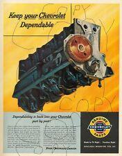Dealer Poster Advertising the Chevy Stovebolt Six Cylinder Engine