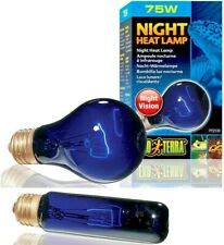 Exo Terra Night Heat Lamp Bulb - Reptile Terrarium Blue Night Vision Light NEW