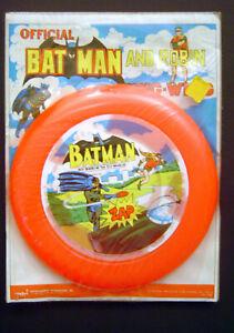 1973 NPP BATMAN + ROBIN AHI AZRAK HAMWAY ZING-WING FRISBEE Sealed MOC K-Mart