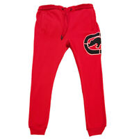 ECKO UNLTD AUTHENTIC MEN'S RED FLEECE JOGGER PANTS SIZE M L