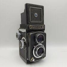 Vintage Yashica A TLR Twin Lens 120 6x6 Film Camera Yashikor F3.5 80mm Lens