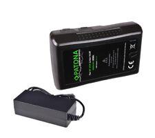 Patona V-Mount Akku mit 95Wh mit D-Tap und USB Ausgang + Ladegerät